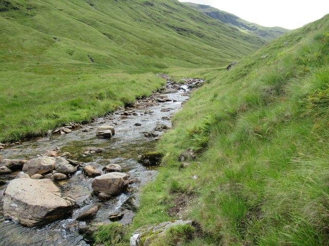 Rough path by Allt Coire Laoigh near Tyndrum