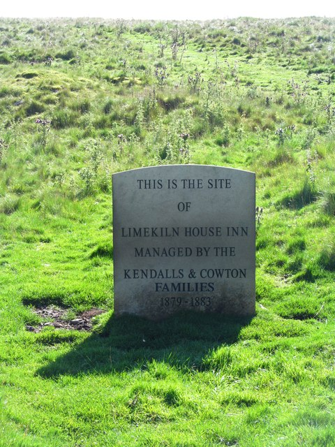 Marker stone at site of Limekiln House