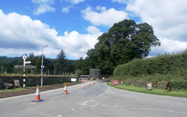 Roadworks at Low Lorton