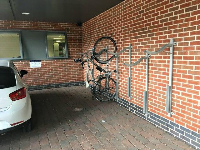 Bike rack at The Quadrant office block