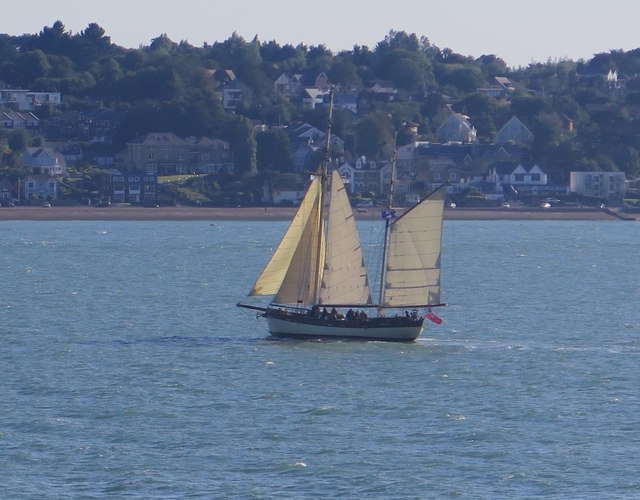 Ketch off Cowes Causeway