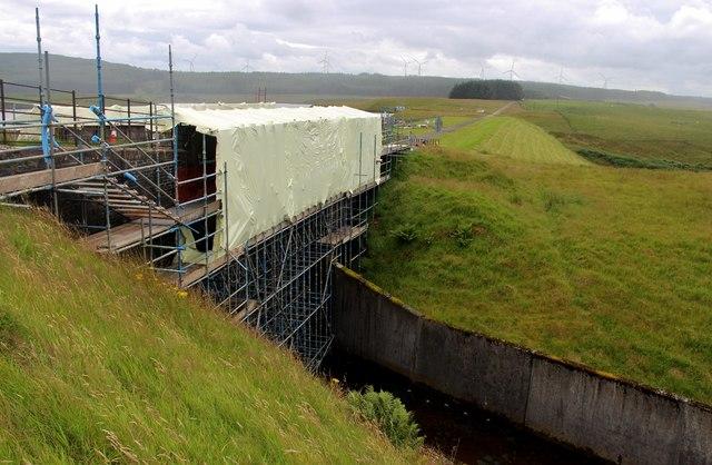 Bridge maintenance at Glengavel Reservoir