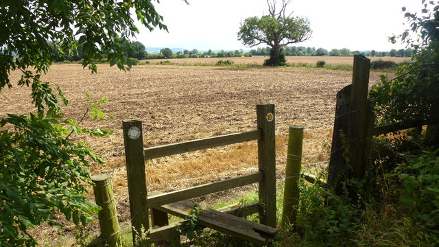 Stile south of the railway line