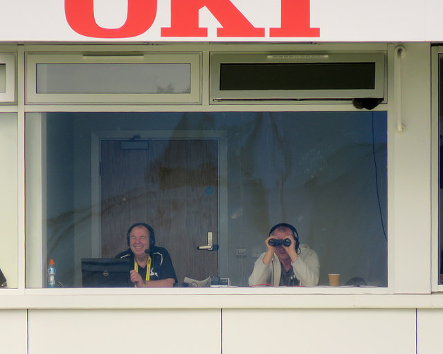 Derby: in the commentary box