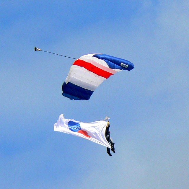 Parachutist, Gloucestershire Vintage & Country Extravaganza 2017, South Cerney Airfield