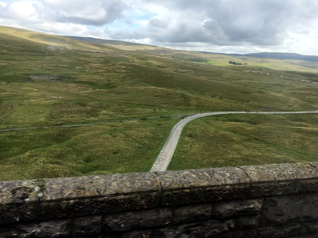 View from the top of the Ribblehead Viaduct