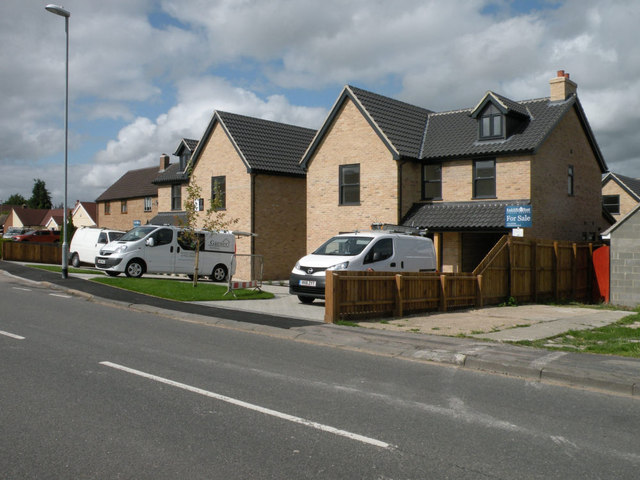 New houses in Ness Road, Burwell