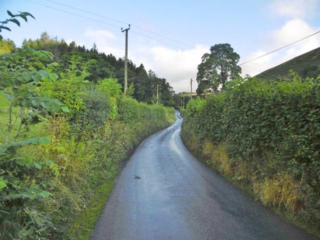 Llanarmon Dyffryn Ceiriog, minor road