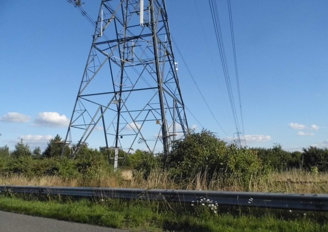 Pylon by Brill Road, Boarstall