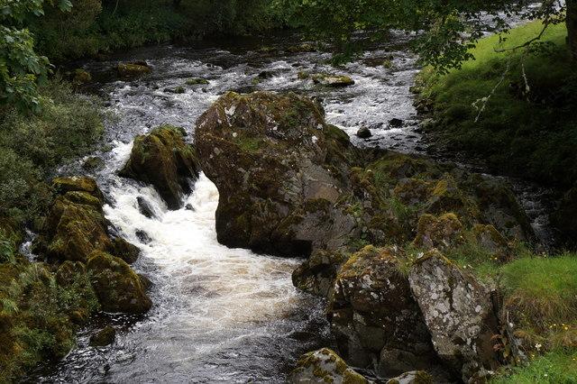 Small waterfall on the Tweed at Tweedsmuir