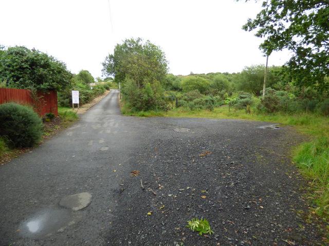 The road to Skelmorlie Golf Club