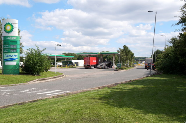 Filling station at Warwick Services