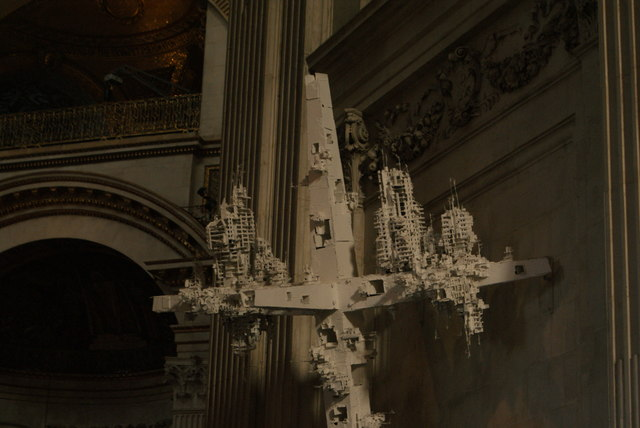 View of a sculpture in St. Paul's Cathedral