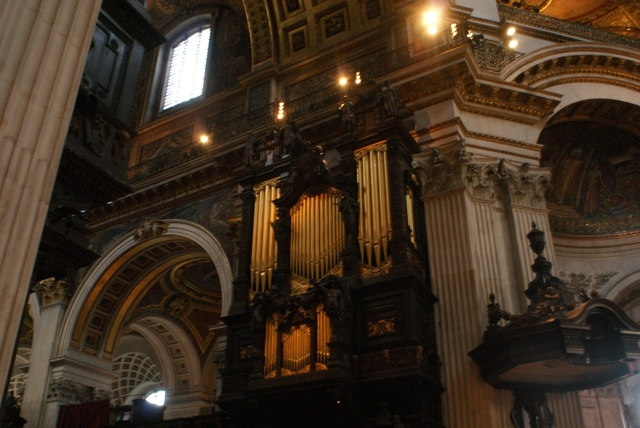 View of one of the organs in St. Paul's Cathedral