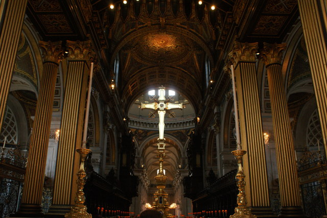 View of the rear of the altar in St. Paul's Cathedral