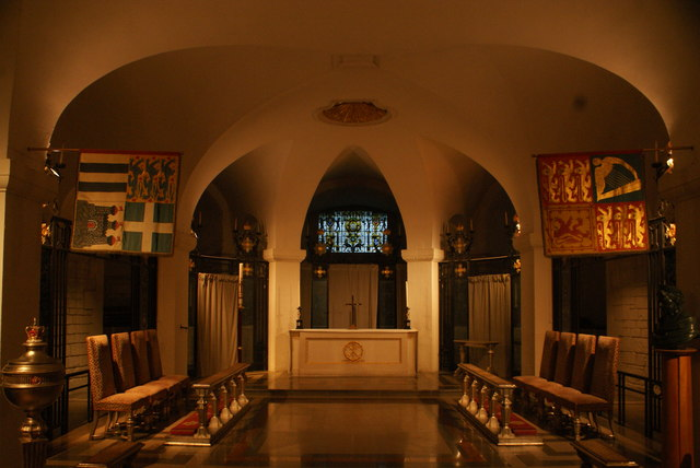 View of the Chapel of the British Empire in the crypt of St. Paul's Cathedral