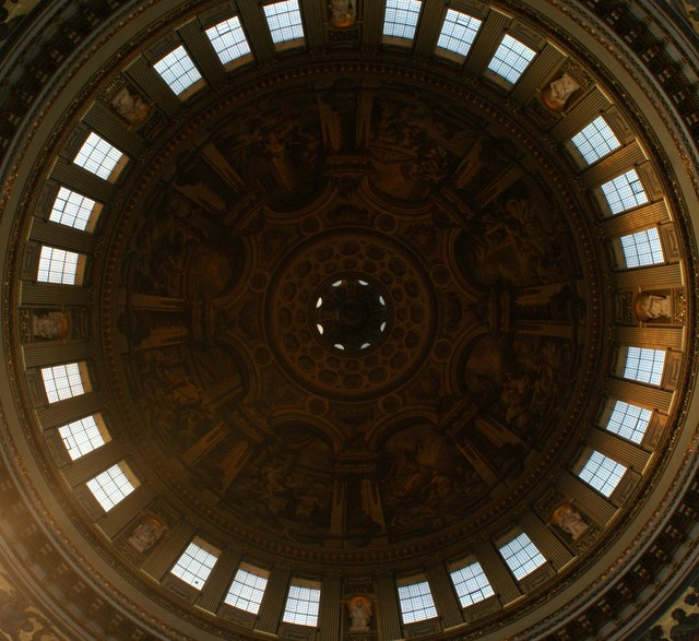 Looking up at the dome in St. Paul's Cathedral #4