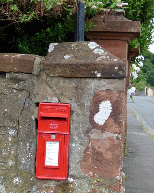 Post box on Sandybrae Road