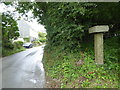 SX0673 : Guidepost at Longstone by Rod Allday