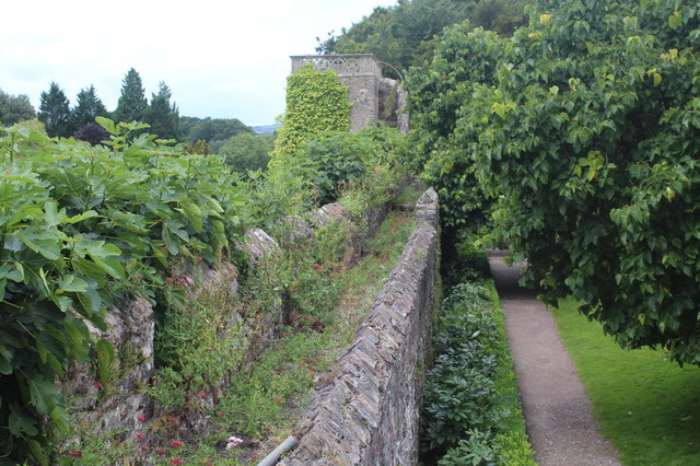 Wall walk, grounds of St Fagans Castle