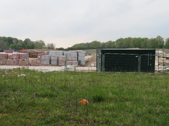 Builders yard in a field