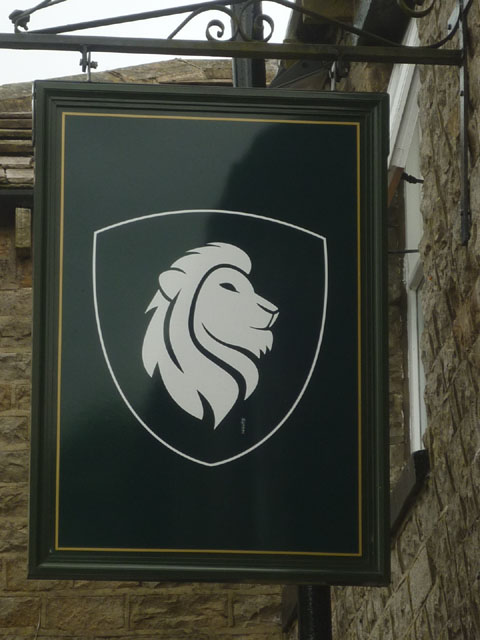 Sign for the White Lion at Cray