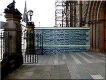 H4472 : Temporary wall, Sacred Heart Church, Omagh by Kenneth  Allen