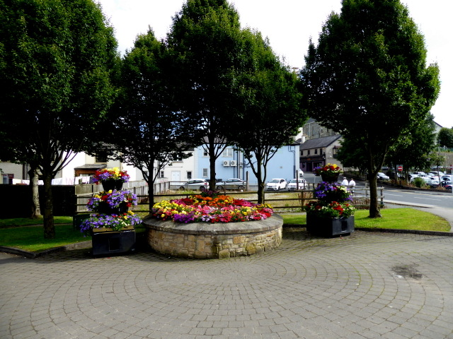 Floral display, McConnell Place, Omagh