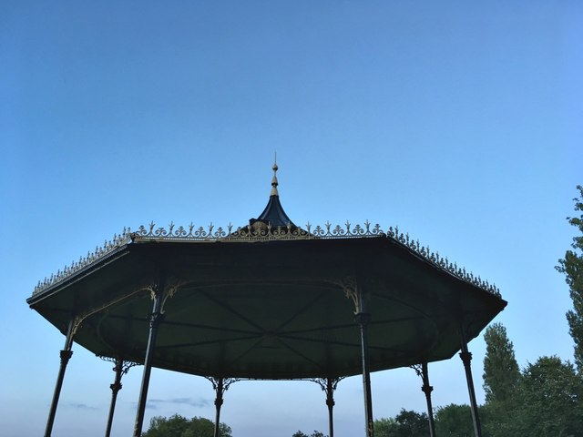 The bandstand canopy