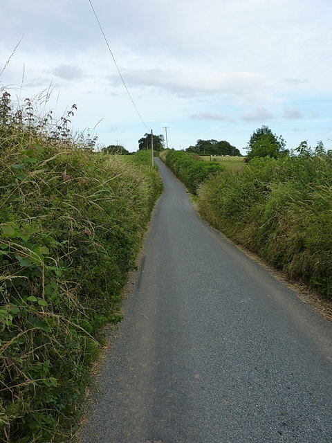 Chelson Lane looking towards Long Chimney