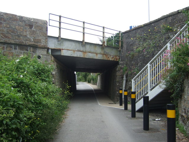 Railway bridge over National Cycle Route 3, Hayle Railway Station