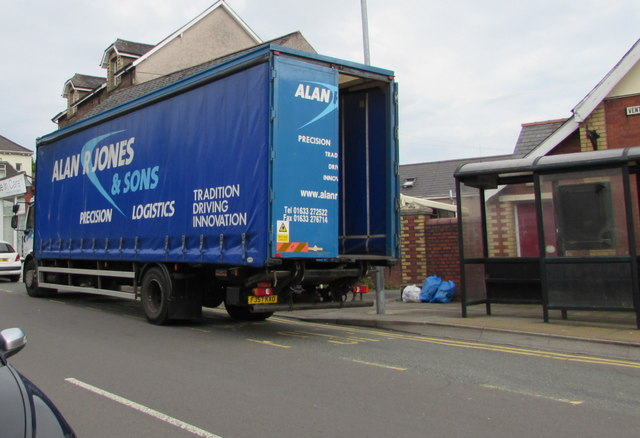 Alan R Jones & Sons lorry in Old Cwmbran