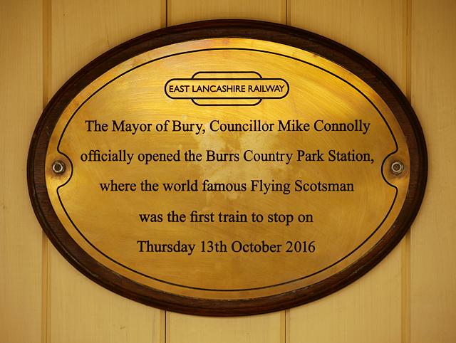 Burrs Station Plaque
