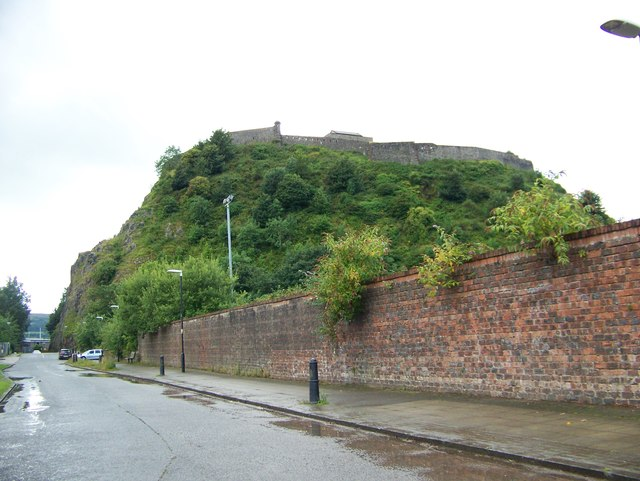 Dumbarton Castle from Castle Road