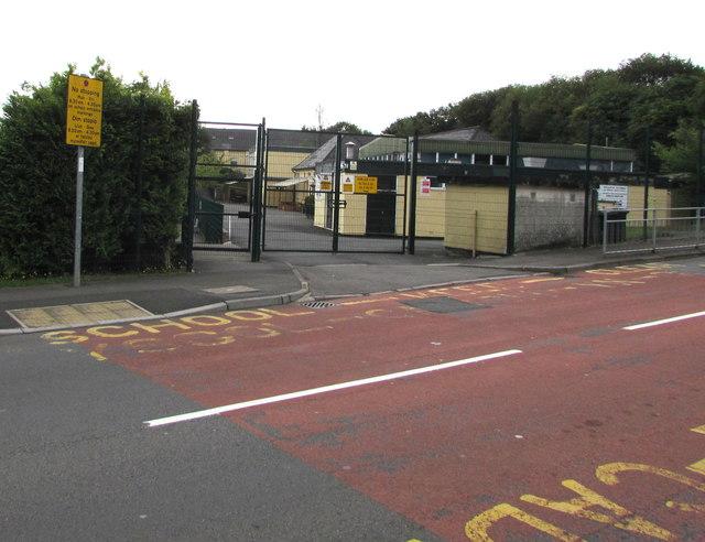 School Keep Clear Zone, Victoria Street, Cwmbran