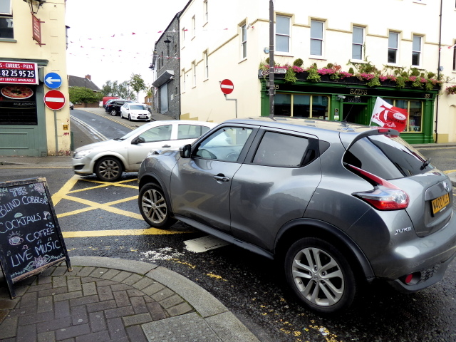 Busy junction along John Street, Omagh