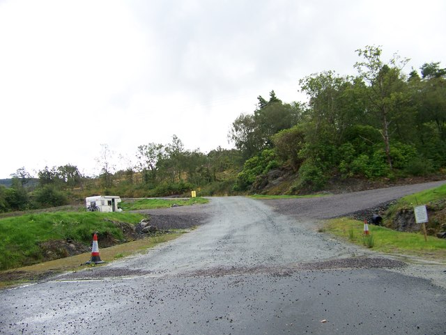 Tarbert Holiday Park access road off the A83
