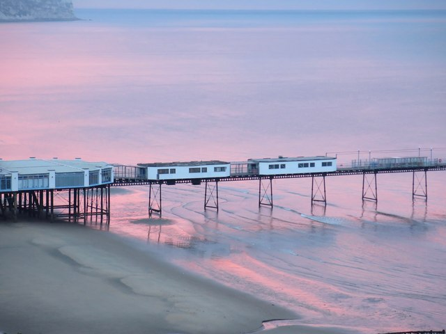 Sandown Pier just before sunrise