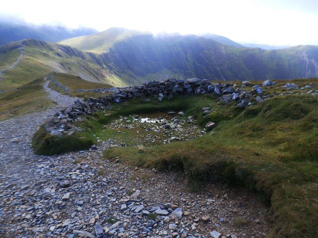 Shelter on Grisedale Pike