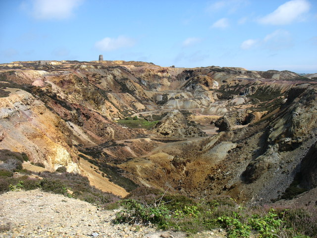 The old copper mine on Parys Mountain