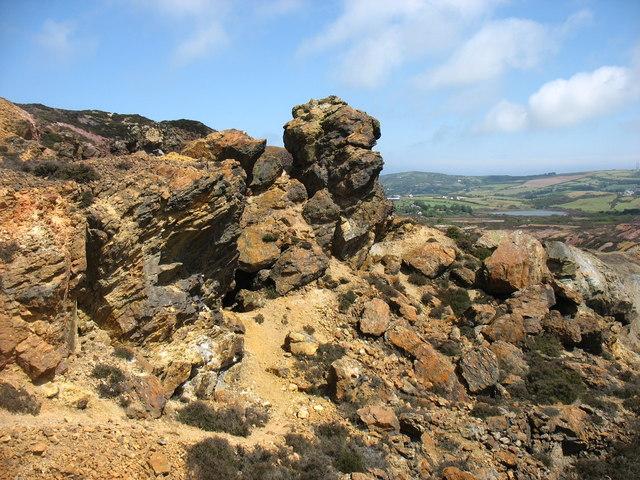 Near the summit of Parys Mountain