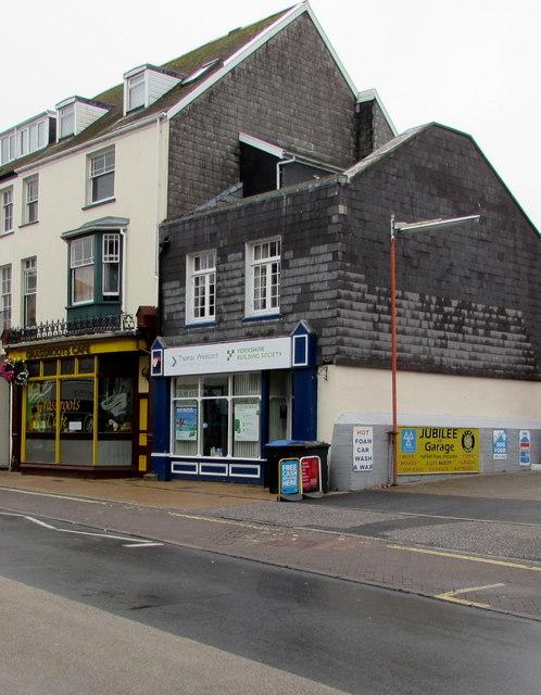Yorkshire Building Society agency, High Street, Ilfracombe