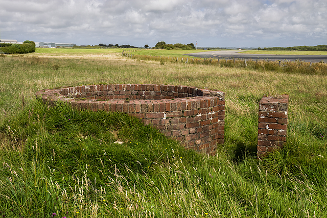 North Wales WWII defences: RAF Mona, Anglesey - LAA Emplacement (1)