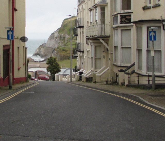 One-way traffic signs, Sommers Crescent, Ilfracombe
