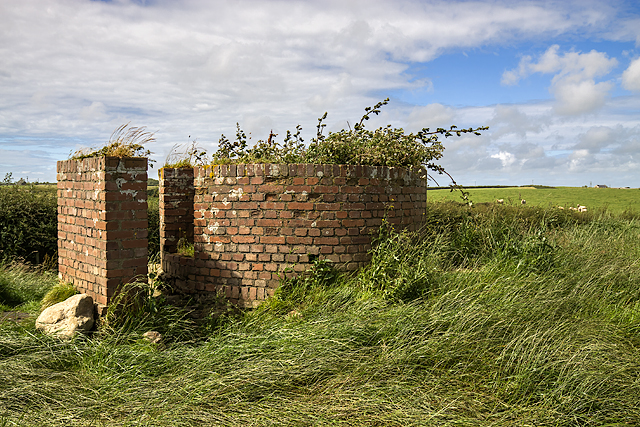 North Wales WWII defences: RAF Mona, Anglesey - LAA Emplacement (8)