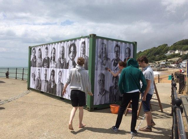 Ventnor Esplanade, the Portrait of a Town team at work