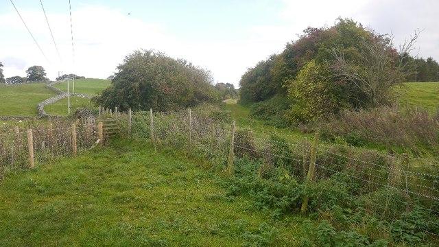 Wensleydale railway trackbed