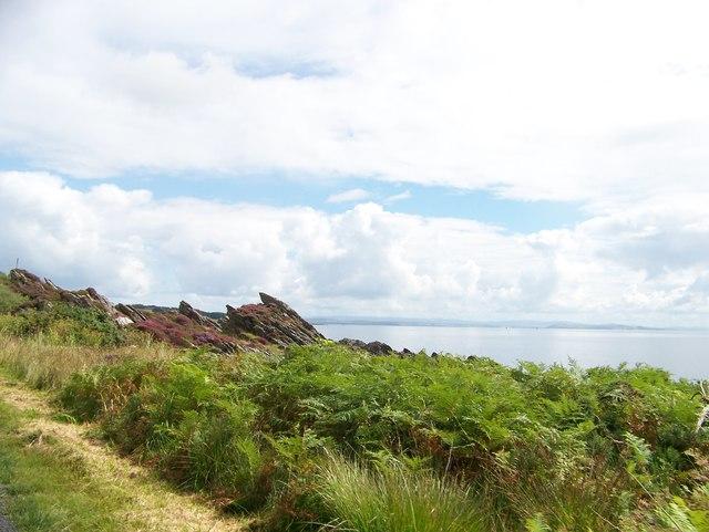 Shoreline from the B8001 near Skipness.
