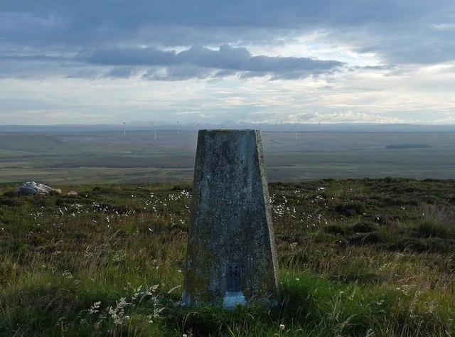 Triangulation pillar, Warth Hill, Caithness