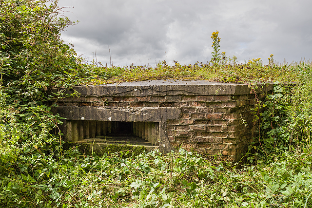 WWII Cheshire, RAF Cranage, near Middlewich - pillbox (1)